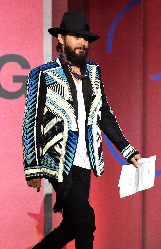 Jared-Leto-Balmain-SS15-embroidered-jacket-4