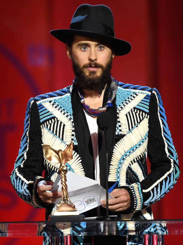Jared-Leto-Balmain-SS15-embroidered-jacket