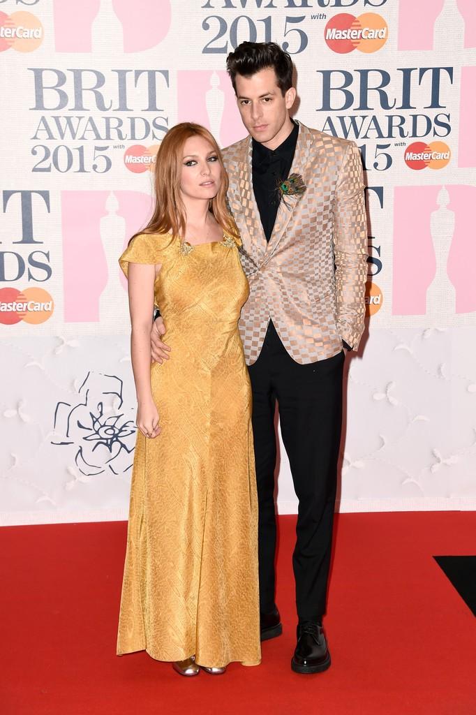 Josephine-de-La-Baume-Mark-Ronson-2015-Brit-Awards-Photo
