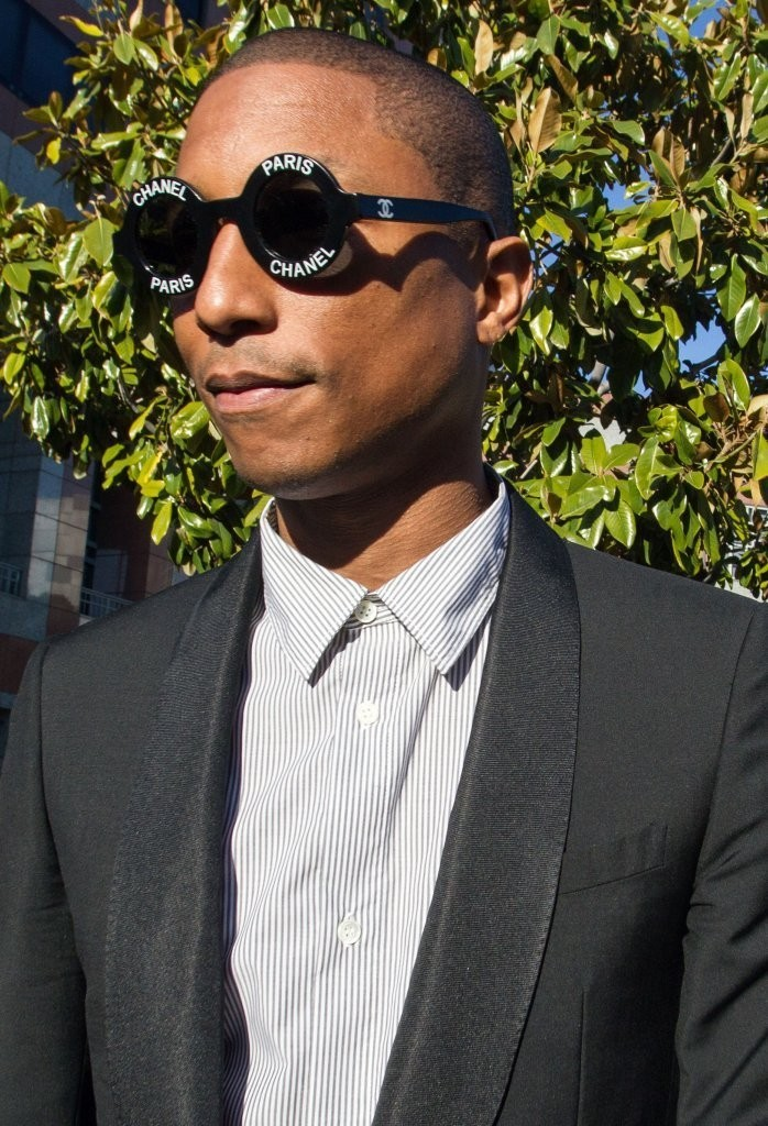 Pharrell-Chanel-Sunglasses-Court-Outfit-March-2015