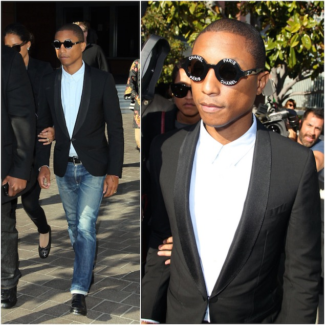 Pharrell-Williams-Chanel-logo-vintage-sunglasses