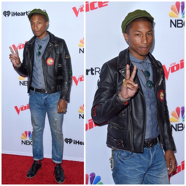 Pharrell-Williams-Lewis-Leather-jacket-Chanel-belt