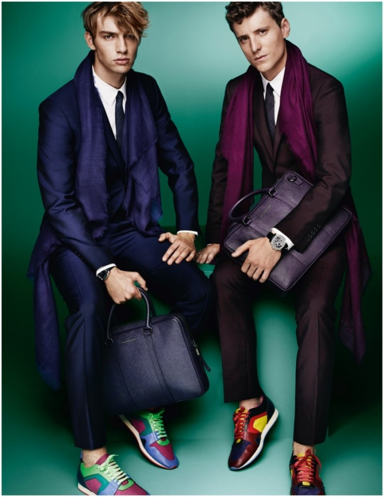 burberry suits and sneakers ss15