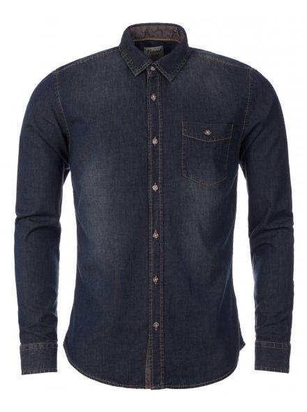 TS Heritage Mens Denim Dark Wash Long Sleeve Shirt 19.99