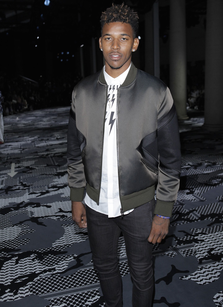 Nick-Young-Neil-Barrett-jacket-shirt-show