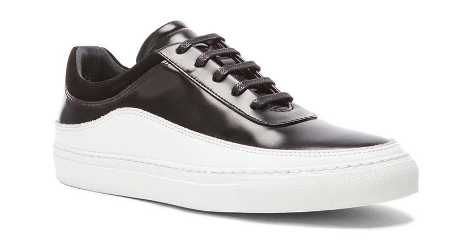 Public-School-lodi-black-leather-low-top-sneakers