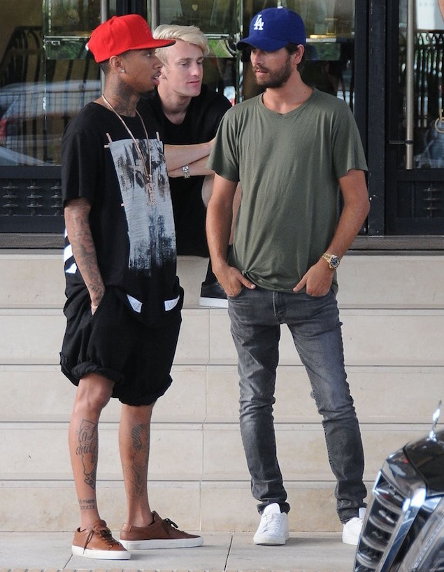Tyga-Off-White-t-shirt-Common-Projects-sneakers-3