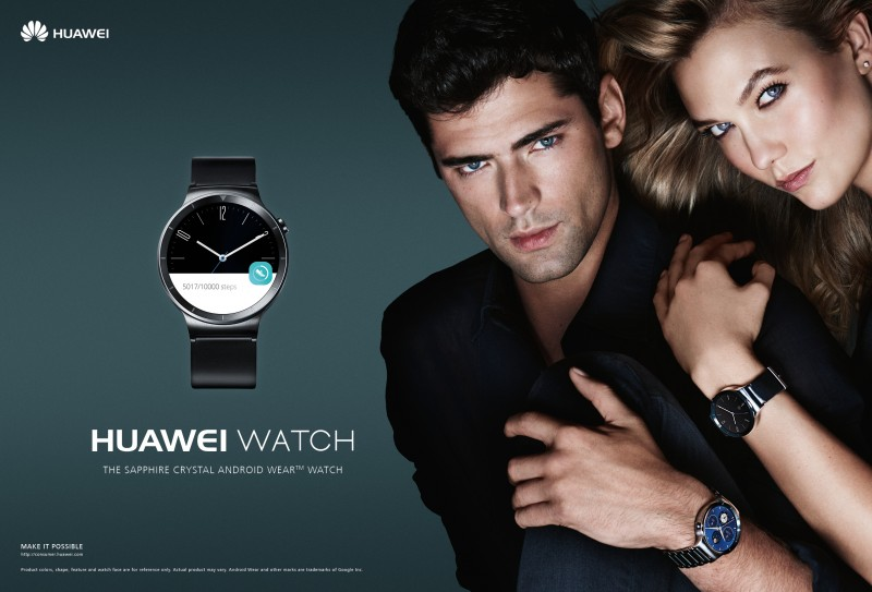 Sean-OPry-Karlie-Kloss-HUAWEI-Watch-2015-Campaign-800x543