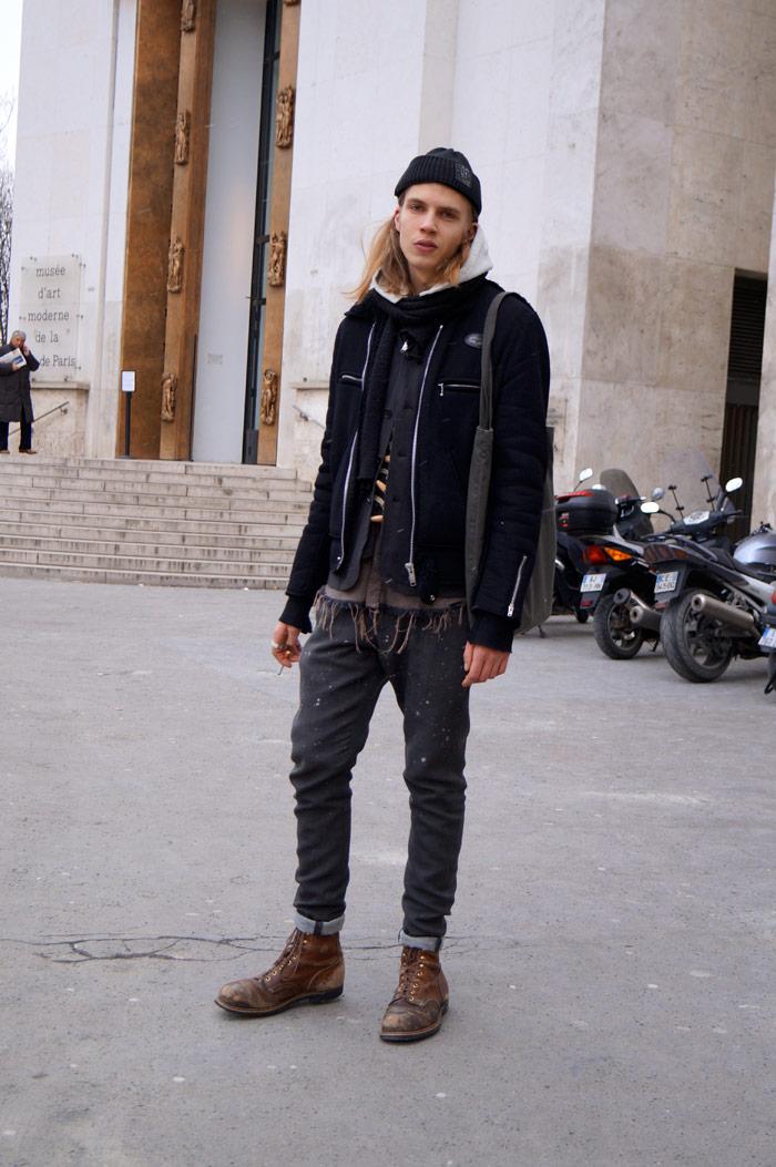 paris_mens_fashion_week_fw13_crystal_nicodemus_black_layers_blonde_hair