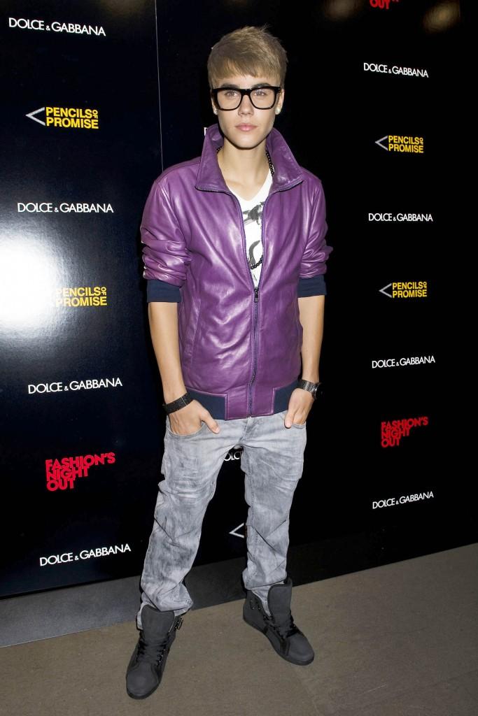 Justin Bieber Attends the Dolce & Gabbana Fashion's Night Out Celebration