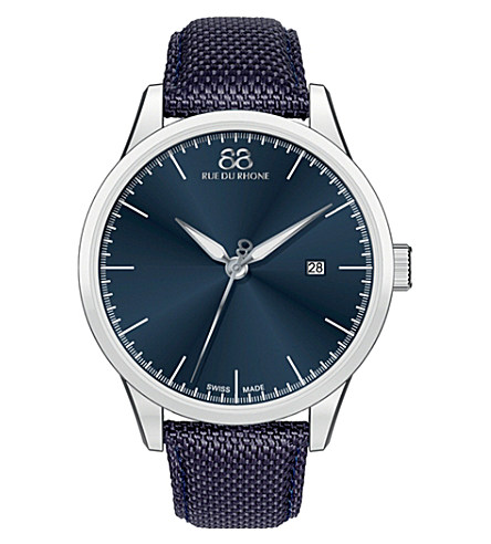 88 RUE DU RHONE 87wa154107 double 8 origin stainless steel watch £295.00