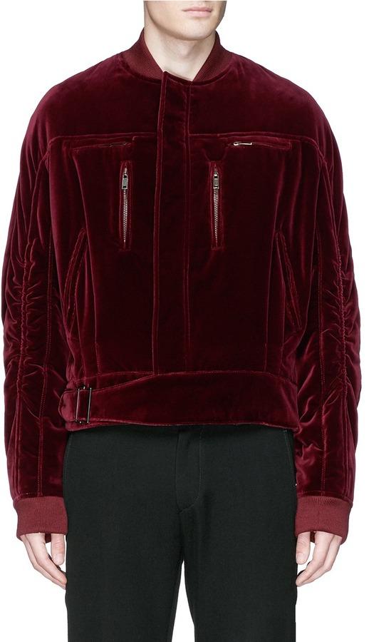 haider-ackermann-ruche-sleeve-velvet-bomber-jacket