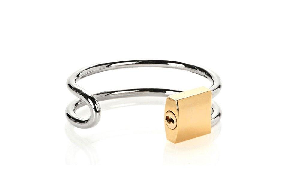 Lock hinge cuff bracelet, $475