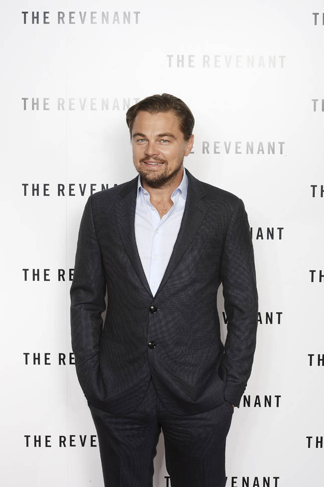 Leonardo DiCaprio attends a BAFTA screening of 'The Revenant'