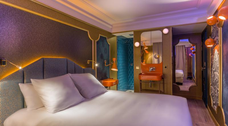 CHAMBRE MOON BLUE 1 - IDOL HOTEL - PARIS 8