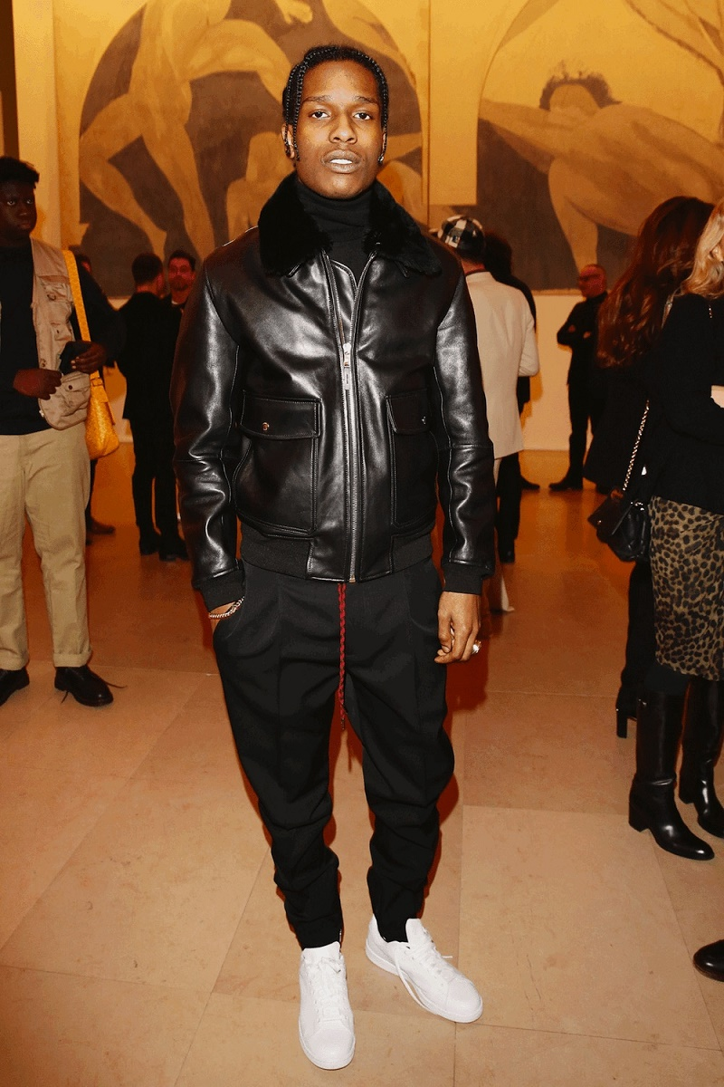 cs -Asap-Rocky-Dior-Homme-pants-jacket-Adidas-shoes-1