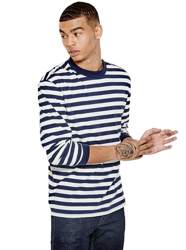 GUESS-ASAP-Rocky-Jeans-Striped-Long-Sleeve-Tee