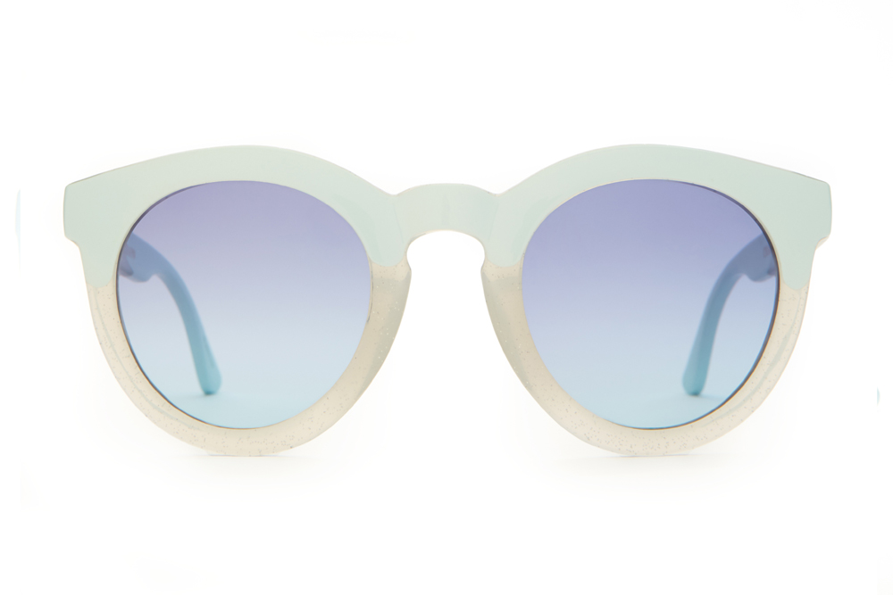 Crap_Eyewear-The_TV_Eye-Semitranslucent_White_Glitter_and_Sky_Blue-Blue_Gradient-front