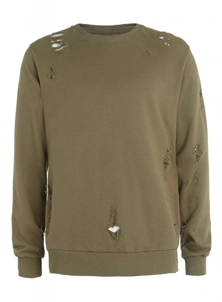Criminal Damage Shoreditch Olive Sweater