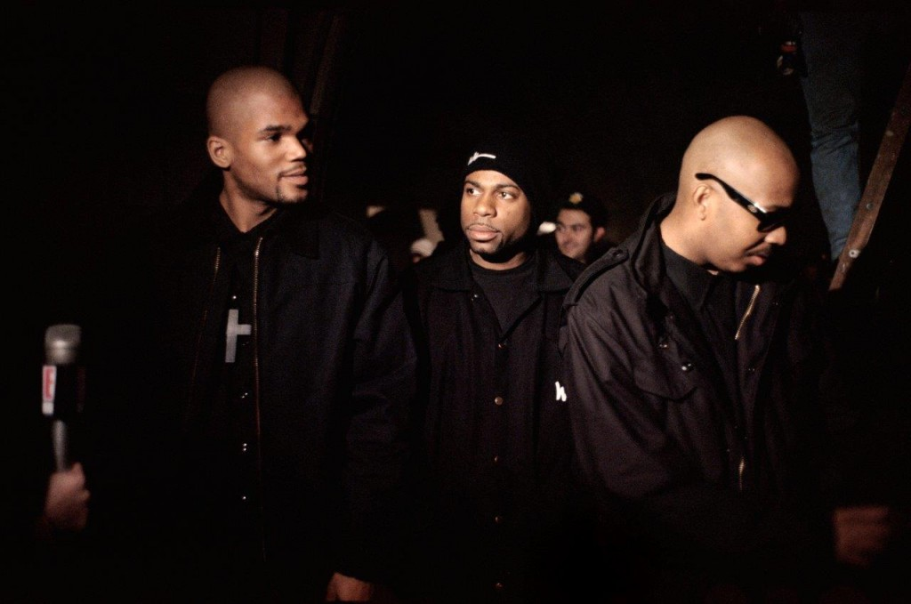 Run-DMC on the set of the _Down With The King_ video, New York City, 199...