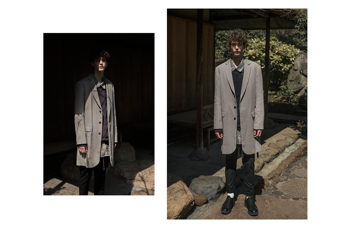ne.sense 2016 lookbook memo grey coat