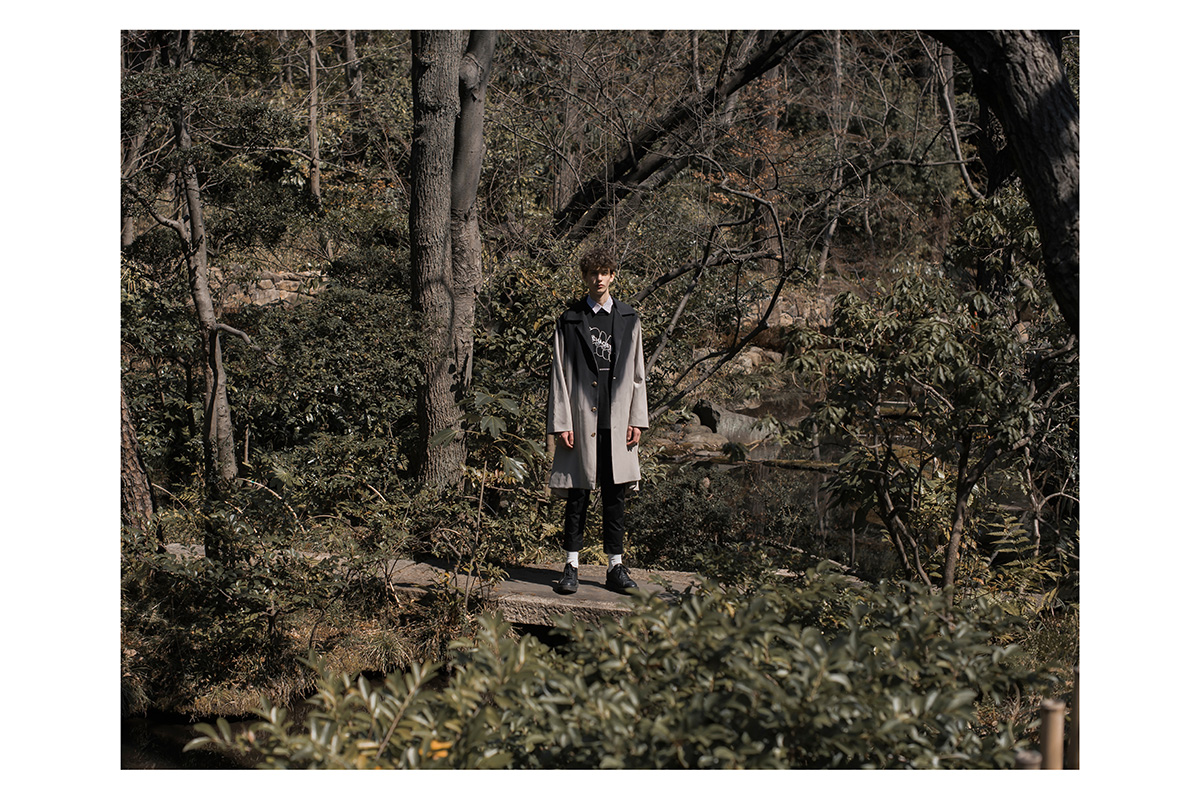 ne.sense 2016 lookbook memo ombre coat