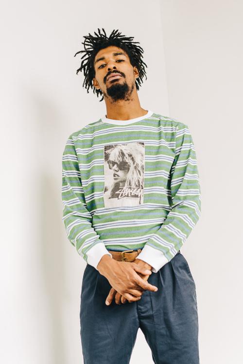 stussy summer lookbook 2016 striped sweater