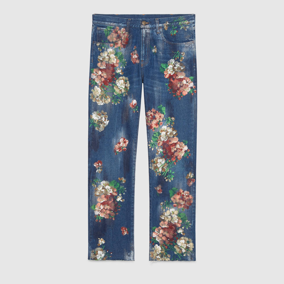 Gucci Printed Jeans