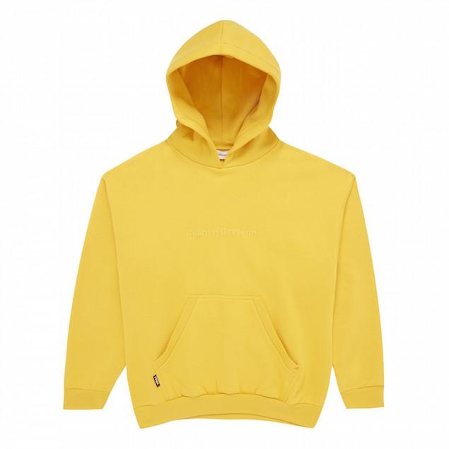 Gosha-Rubchinskiy-Hooded-Sweatshirt-with-Embroidery-Yellow