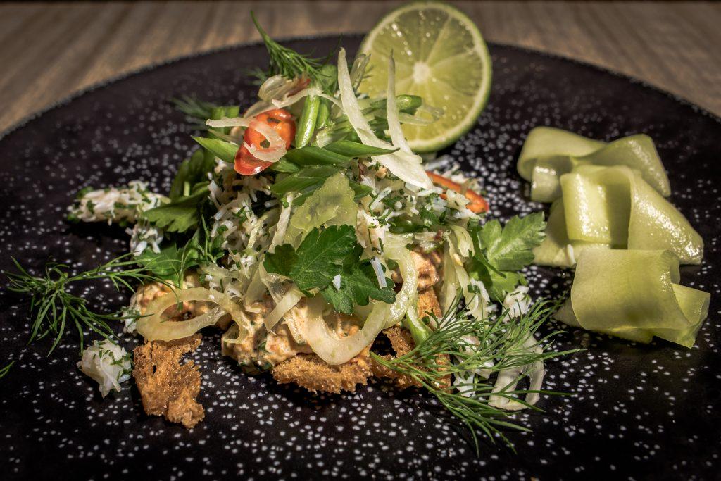 L'Escargot - Chilli Crab on Toast