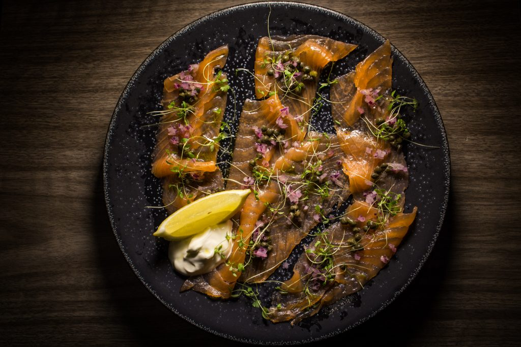 L'Escargot - Smoked Salmon with capers