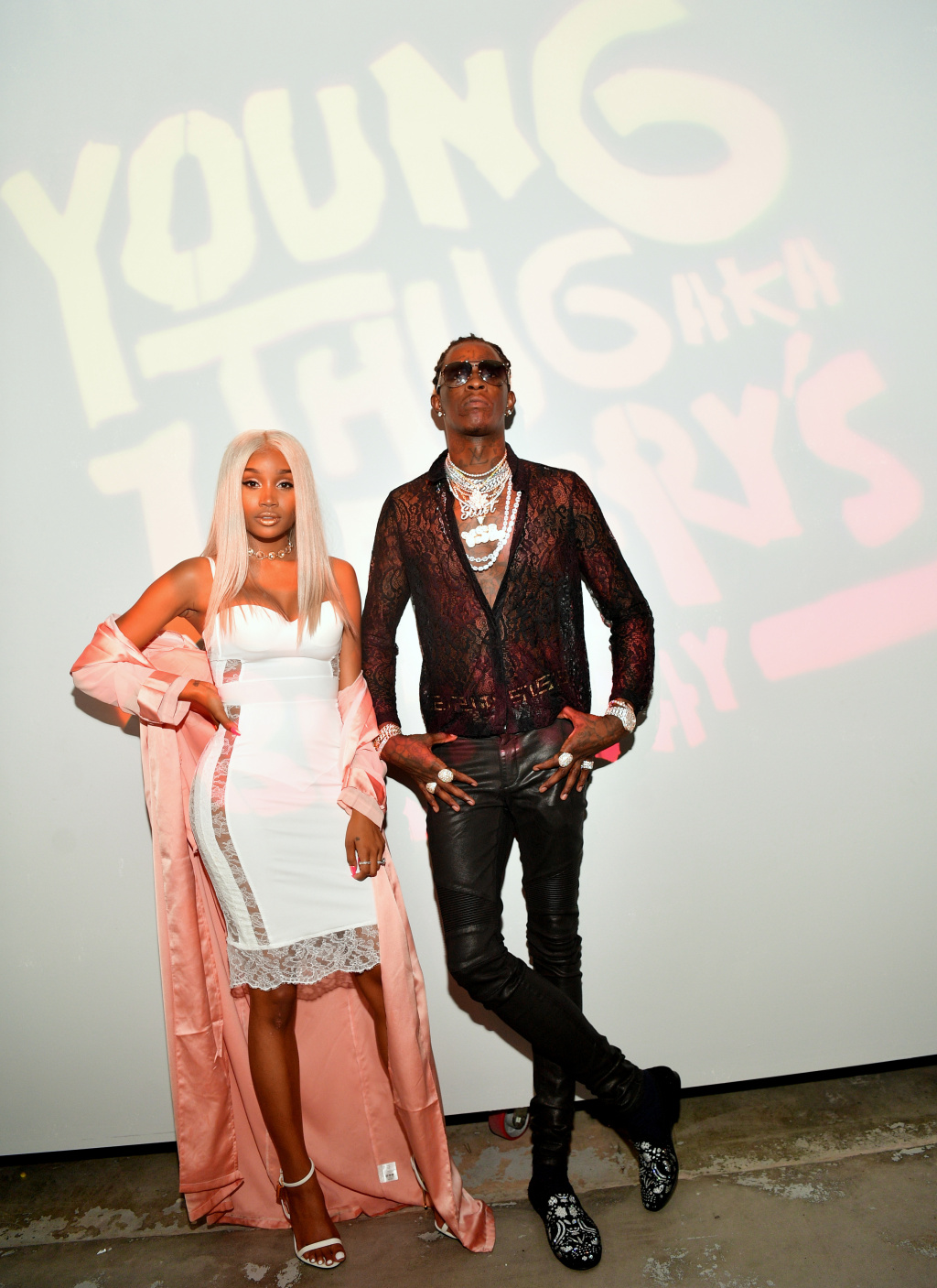 ATLANTA,   GA - AUGUST 15: Jerrika Karlae and Young Thug attend Young Thug's 25th Birthday and PUMA AW16 Campaign on August 15,   2016 in Atlanta, Georgia. (Photo by Prince Williams/Getty Images for PUMA)