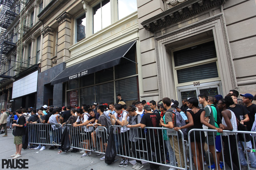 pablo pop up shop queue