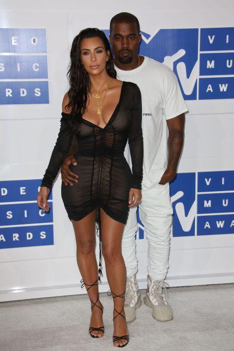 Mandatory Credit: Photo by REX/Shutterstock (5848760br) Kanye West and Kim Kardashian 2016 MTV Video Music Awards,   Arrivals,   Madison Square Garden, New York, USA - 28 Aug 2016