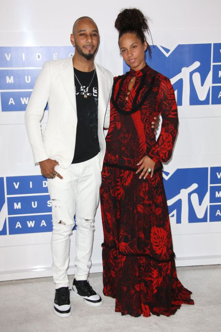 Alicia Keys and with Swizz Beatz