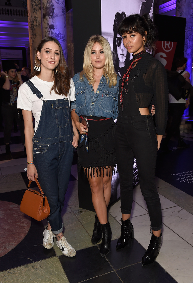 LONDON, ENGLAND - SEPTEMBER 06: Sophie Hopkins, Kara Rose Marshall and guest attends Levi's brand announcement of the partnership with grime artist Skepta to launch the Levi's music project #Supportmusic and celebrate its partnership with the V&A, with an exclusive performance from Skepta at the Victoria and Albert Museum on September 6, 2016 in London, England. (Photo by David M. Benett/Dave Benett/Getty Images for Levi's) *** Local Caption *** Sophie Hopkins;Kara Rose Marshall
