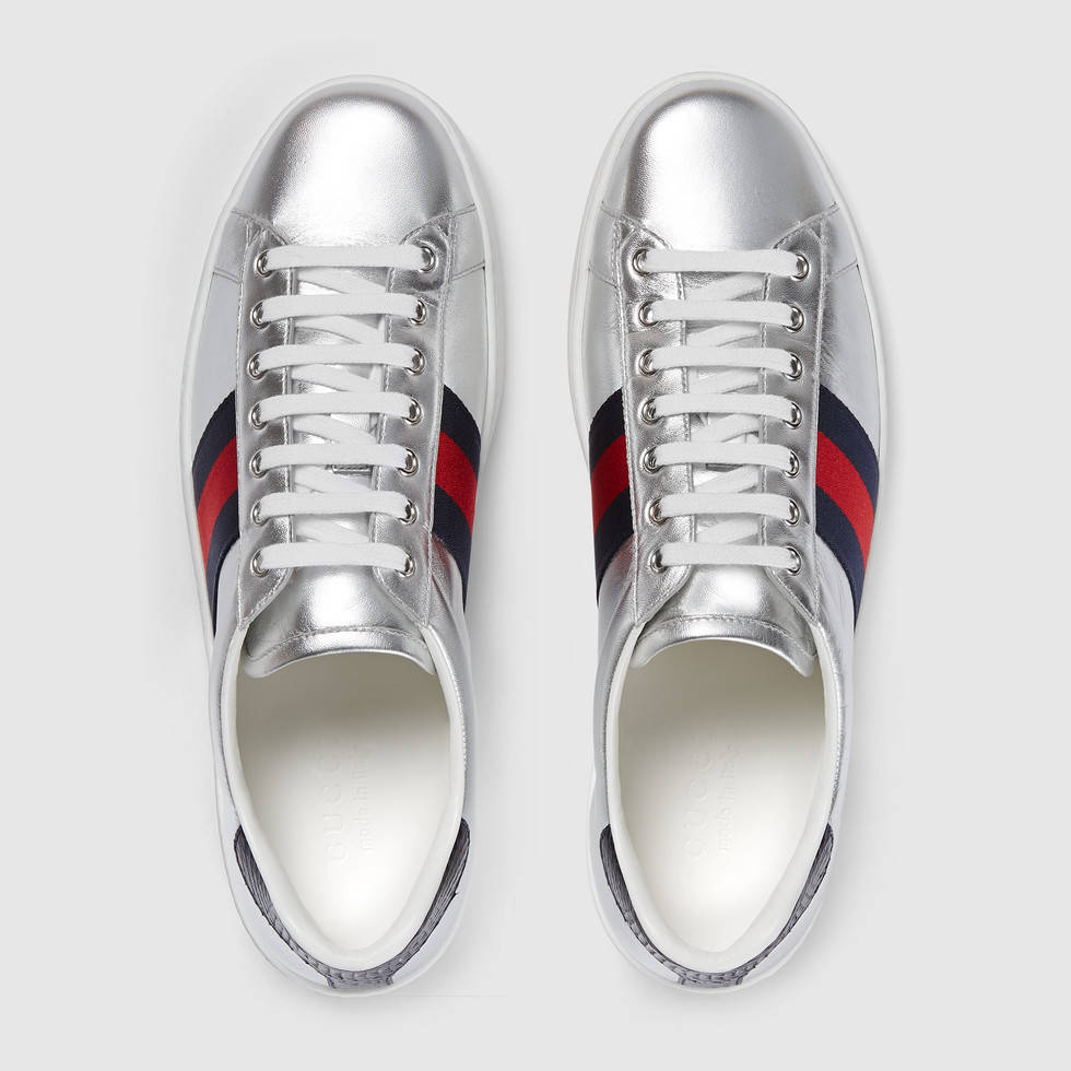 Gucci-ace-metallic-leather-low-top-sneakers