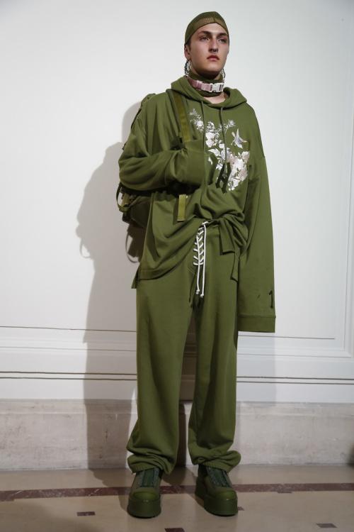 Fenty by Rihanna Fashion show backstage Paris Fashion Week Spring 2017 RTW collections