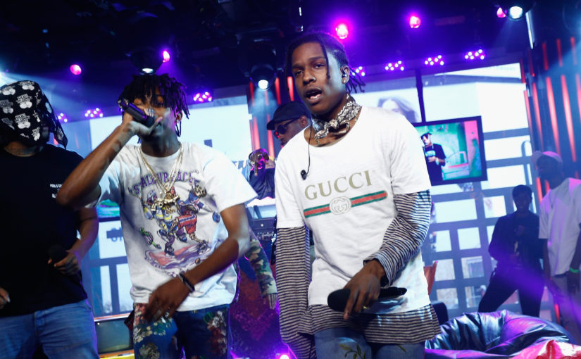 NEW YORK,   NY - SEPTEMBER 30: A$AP Rocky and A$AP Mob perform at MTV Studios on September 30, 2016 in New York City. (Photo by Brian Ach/Getty Images for MTV)