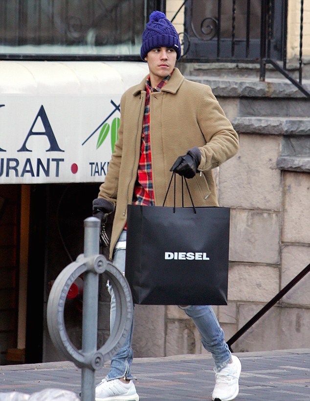 justin-bieber-diesel-coat-hat-fear-of-god-jeans-adidas-sneakers