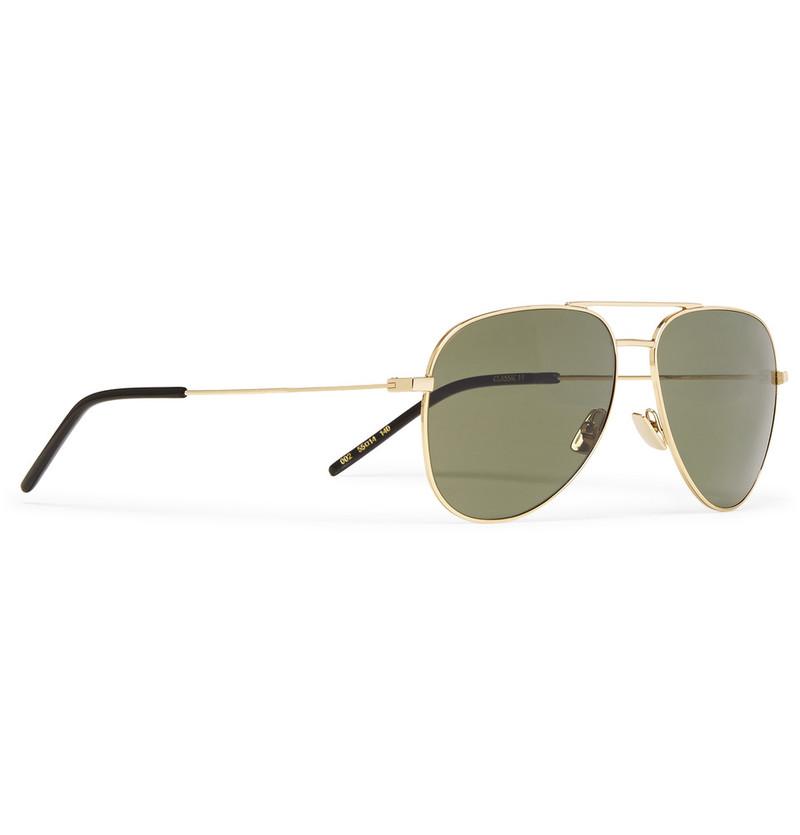 saint-laurent-aviator-gold-tone-sunglasses-2