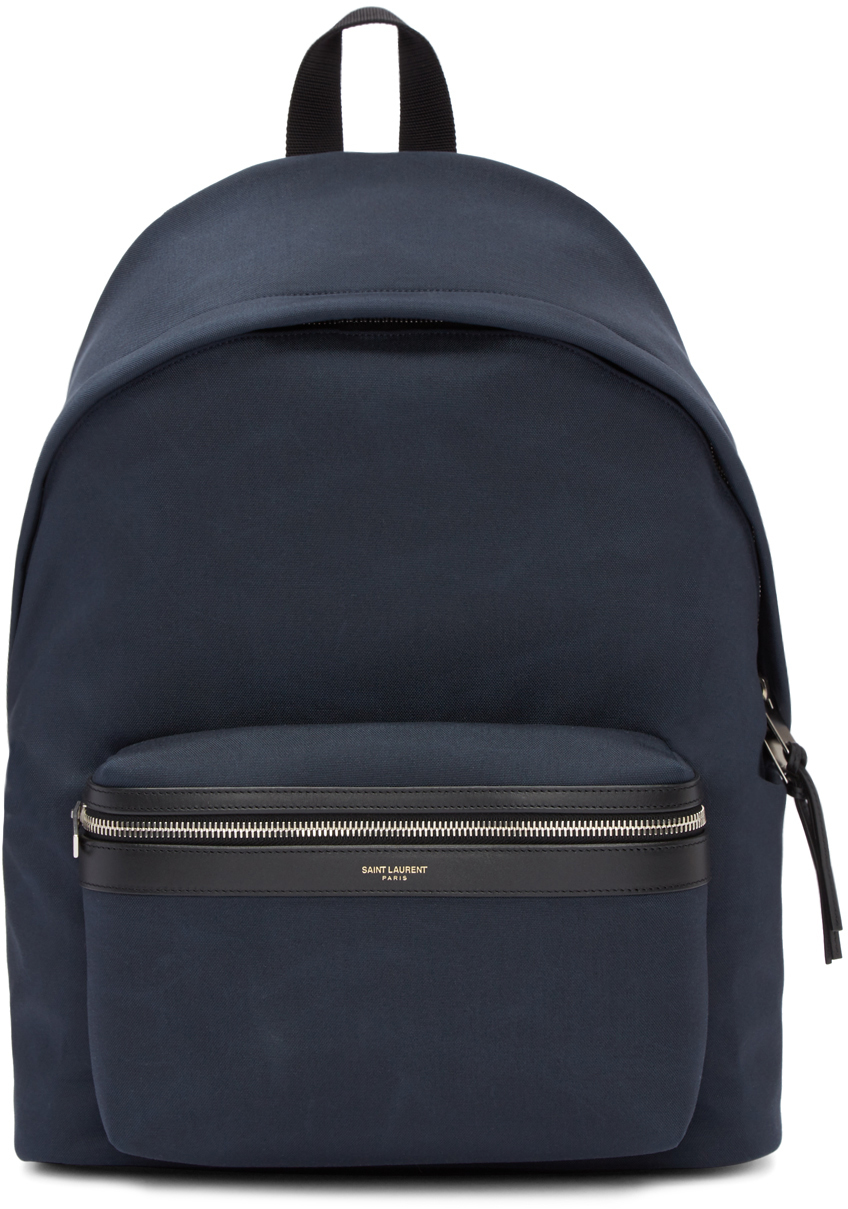 saint-laurent-navy-classic-city-backpack