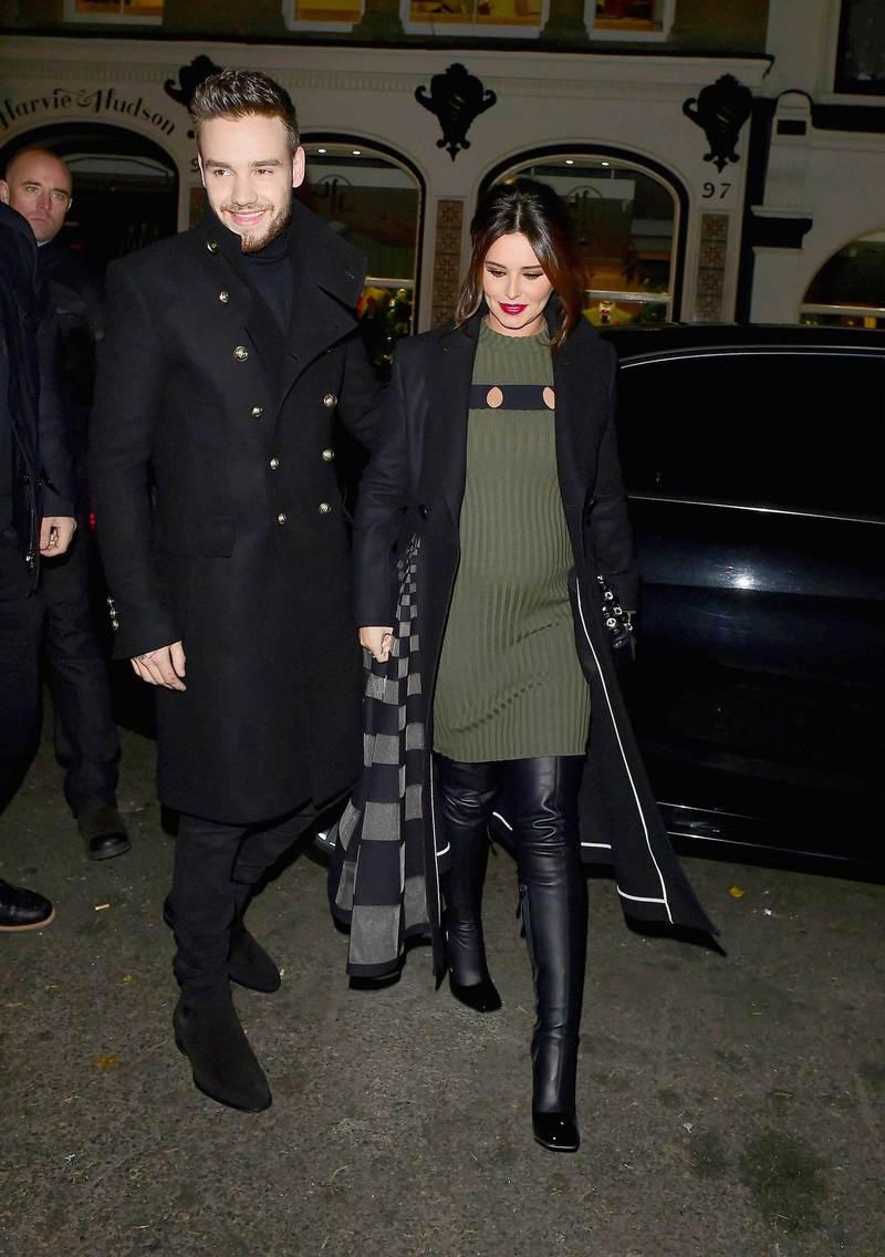 liam-payne-cheryl-cole-balmain-coat-saint-laurent-boots