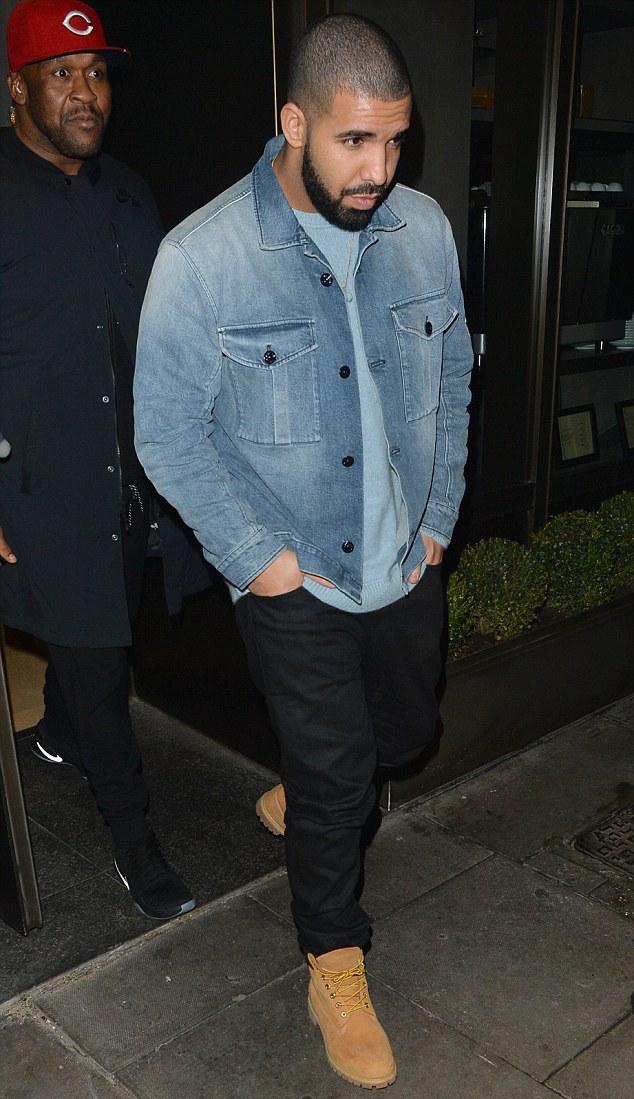 Drake In Denim Stone Island Jacket and