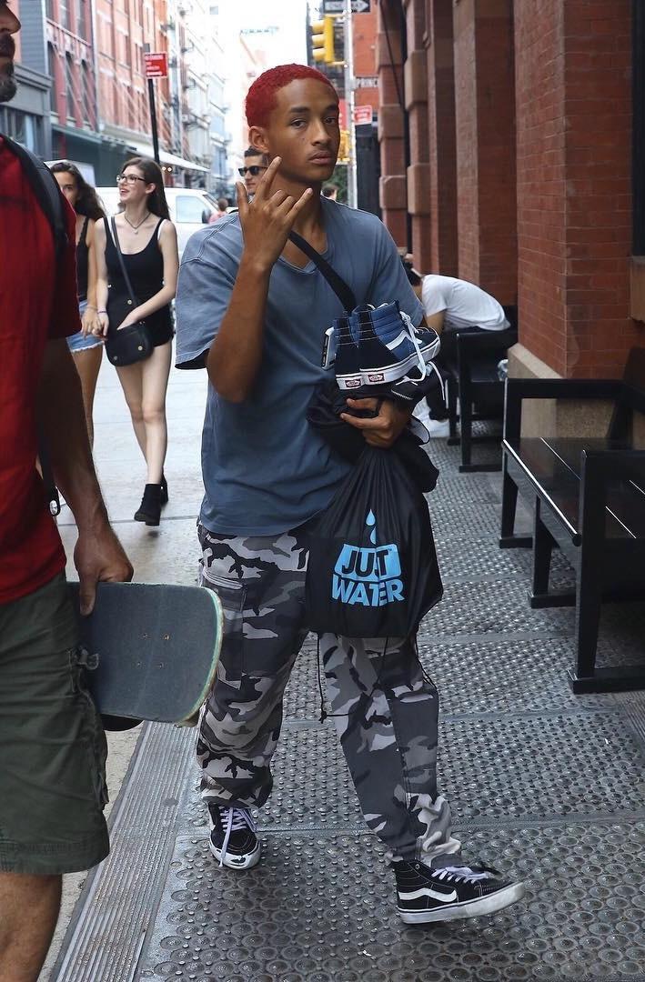 Jaden Smith Wears Vans Sk8-Hi Sneakers
